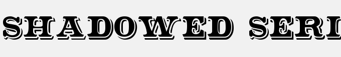 Shadowed Serif