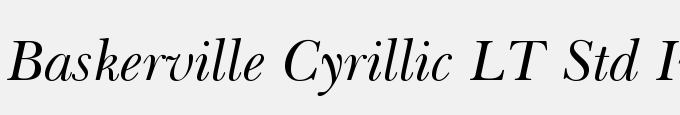 Baskerville Cyrillic LT Std Inclined