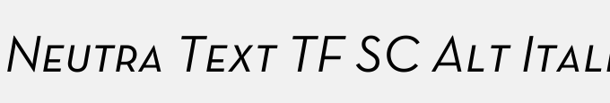 Neutra Text TF SC Alt Italic