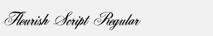 Fleurish Script Regular