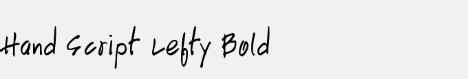 Hand Script Lefty Bold