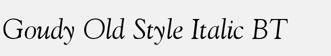 Goudy Old Style Italic BT