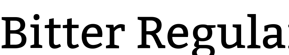 Bitter Regular Font Download Free