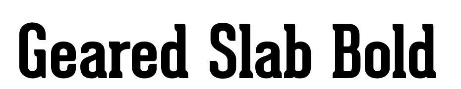 Geared Slab Bold Font Download Free