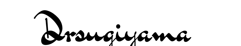 Dr Sugiyama Regular Font Download Free