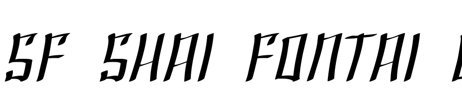 SF Shai Fontai Extended Oblique Font Download Free
