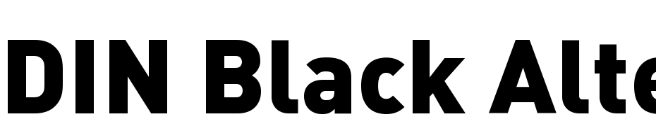 DIN Black Alternate Font Download Free