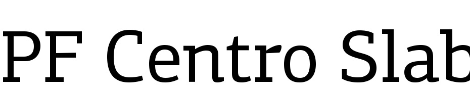 PFCentro Slab Pro Regular Font Download Free