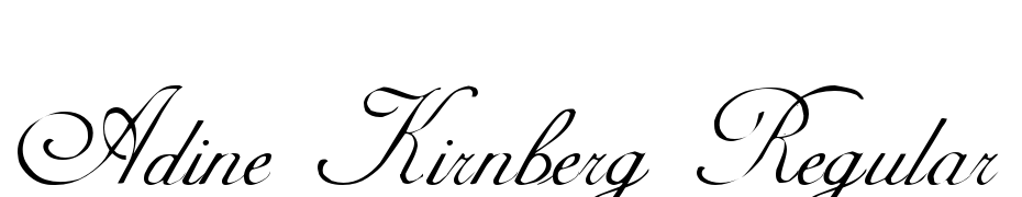 Adine Kirnberg Regular Font Download Free