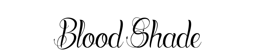 Blood Shade Font Download Free