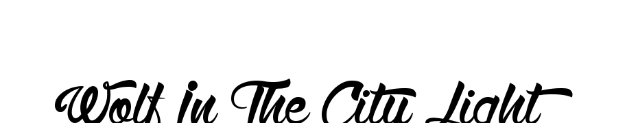 Wolf In The City Light Font Download Free