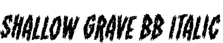 Shallow Grave BB Italic Font Download Free