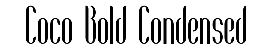 Coco Bold Condensed Font Download Free