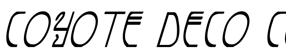 Coyote Deco Cond Ital Font Download Free