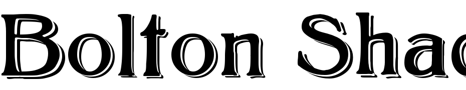 Bolton Shadowed Font Download Free