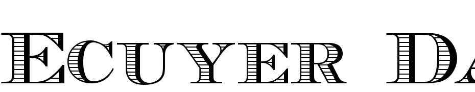 Ecuyer DAX Font Download Free